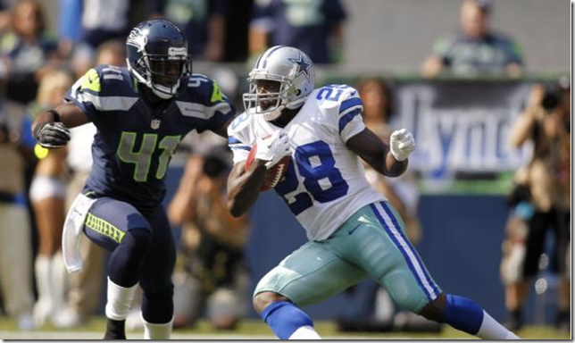 Dallas Cowboys RB Felix Jones rushes vs Seattle Seahawks - The Boys Are Back blog