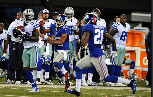Dallas Cowboys receiver Dez Bryant caught four passes for 85 yards - The Boys Are Back blog