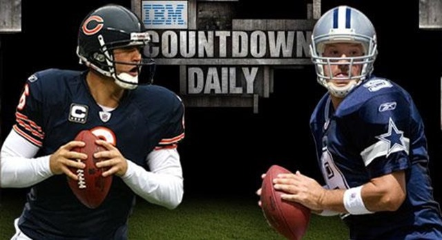 Dallas Cowboys Tony Romo vs Chicago Bears Jay Cutler - The Boys Are Back blog