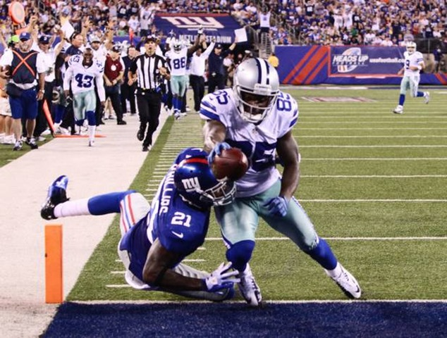 Dallas Cowboys wide receiver Kevin Ogletree (85) scores on a 40-yard touchdown pass from Dallas Cowboys quarterback Tony Romo - The Boys Are Back blog