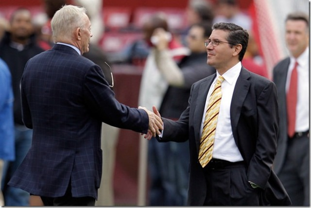 daniel snyder looking up to jerry jones dallas cowboys