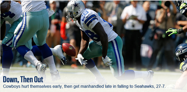 Down, then out - Dallas Cowboys vs Seattle Seahawks - The Boys Are Back blog