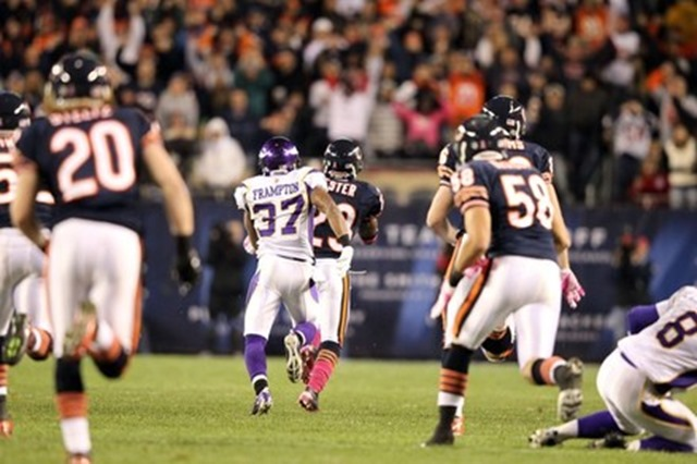 Eric Frampton #37 of the Minnesota Vikings at Soldier Field - The Boys Are Back blog