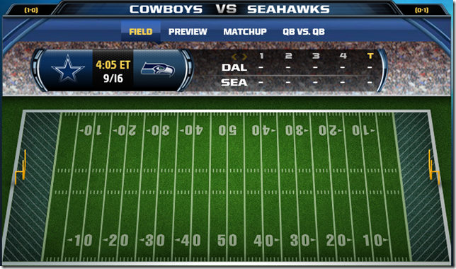 GAMETRAX - Dallas Cowboys vs. Seattle Seahawks