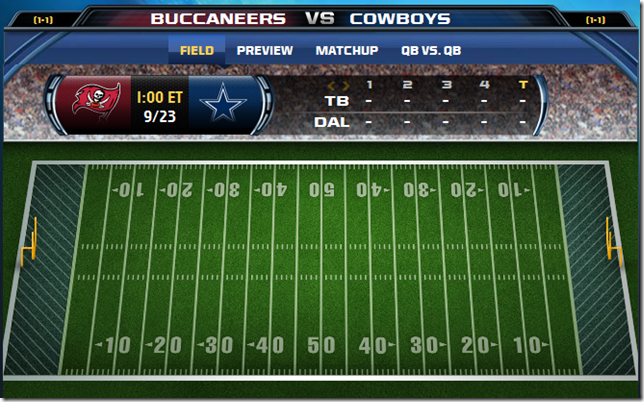 GAMETRAX - Dallas Cowboys vs. Tampa Bay Buccaneers