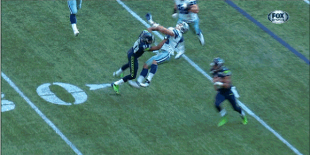 fc0f32ec9 Illegal hit on Sean Lee vs Seattle Seahawks - The Boys Are Back blog.  Seattle Seahawks receiver Golden Tate has been fined ...