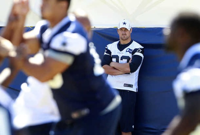 Injured Dallas Cowboys tight end Jason Witten watches from the sidelines during Dallas Cowboys training camp - The Boys Are Back blog