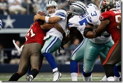 Romo found himself sandwiched between defenders on several occasions - The Boys Are Back blog
