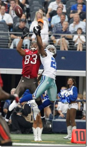 Tampa Bay Buccaneers wide receiver Vincent Jackson (83) and Dallas Cowboys cornerback Mike Jenkins - The Boys Are Back blog