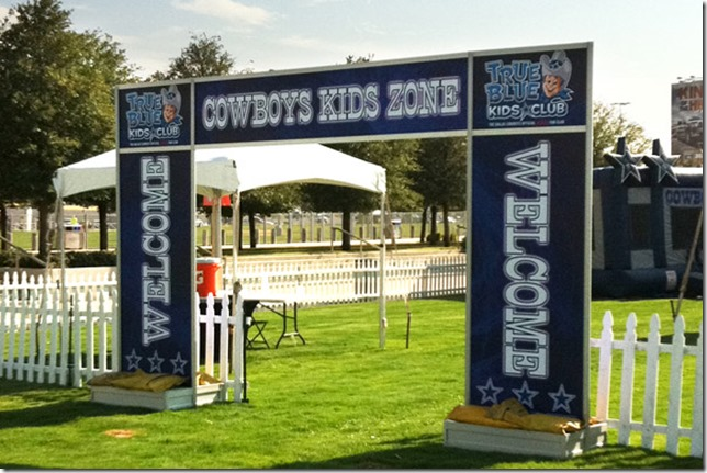 The Dallas Cowboys Kids Zone is the home for all kids on gameday