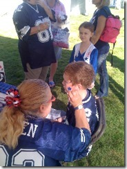 The Dallas Cowboys Kids Zone offers free face painting - The Boys Are Back blog