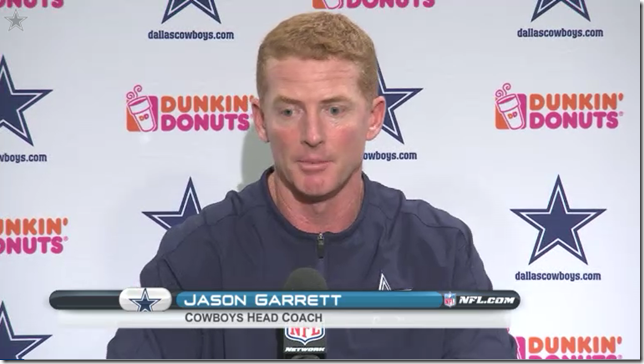 VIDEO - Jason Garrett Postgame Press Conference - The Boys Are Back blog