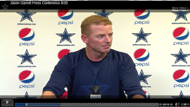 VIDEO Pop Out - Dallas Cowboys coach Jason Garrett Press Conference - The Boys Are Back blog