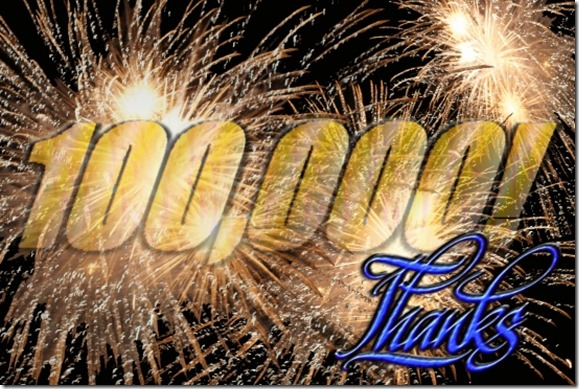 100000 hits - Thank You - The Boys Are Back blog
