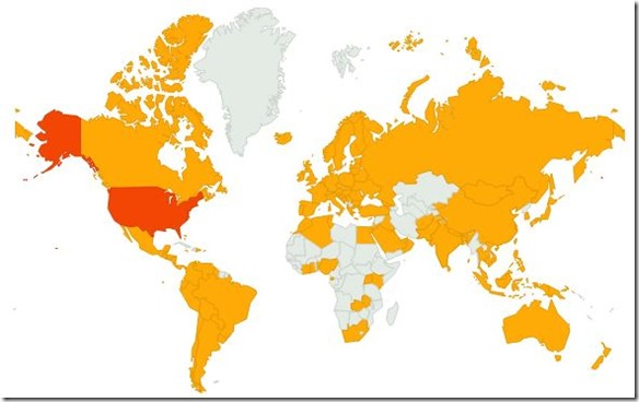 100000 hits - Visitors worldwide - The Boys Are Back blog