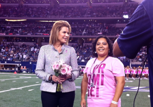 Ambassador Nancy G. Brinker, Susan G. Komen for the Cure founder and CEO, recognized Dallas Cowboys employee Roxanne Martinez - The Boys Are Back blog
