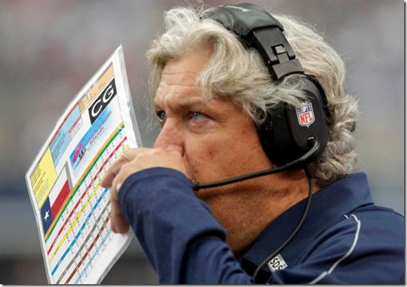 Dallas Cowboys defensive coordinator Rob Ryan works the sideline against the Tampa Bay Buccaneers - The Boys Are Back blog
