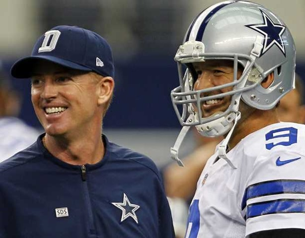 Dallas Cowboys head coach Jason Garrett (left) and quarterback Tony Romo - The Boys Are Back blog