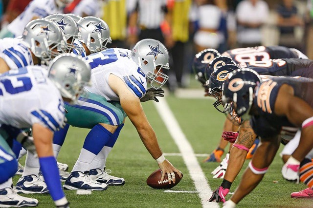 Dallas Cowboys offensive line vs Chicago Bears - Line of scrimmage - The Boys Are Back blog