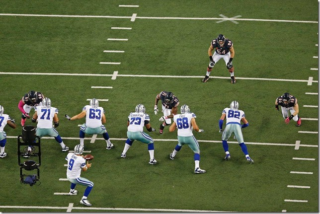 Dallas Cowboys offensive line vs Chicago Bears - The Boys Are Back blog