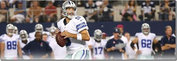 Dallas Cowboys QB Tony Romo setup for a pass - The Boys Are Back blog