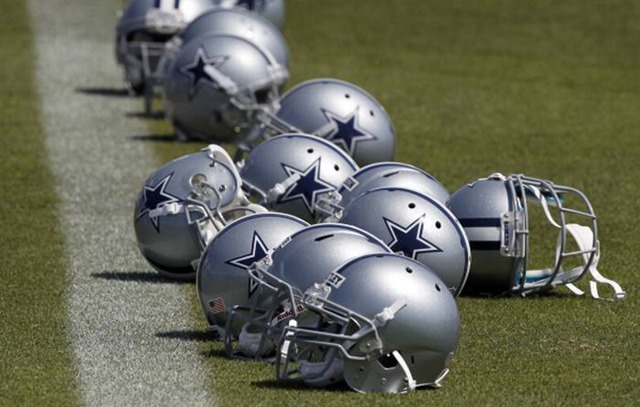 Dallas Cowboys Valley Ranch helmets - The Boys Are Back blog