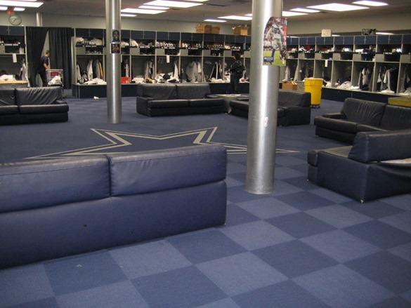 Dallas Cowboys Valley Ranch locker area - The Boys Are Back blog