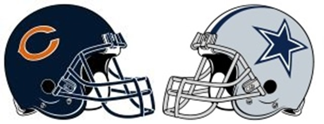 Dallas Cowboys vs. Chicago Bears - Helmets - The Boys Are Back blog