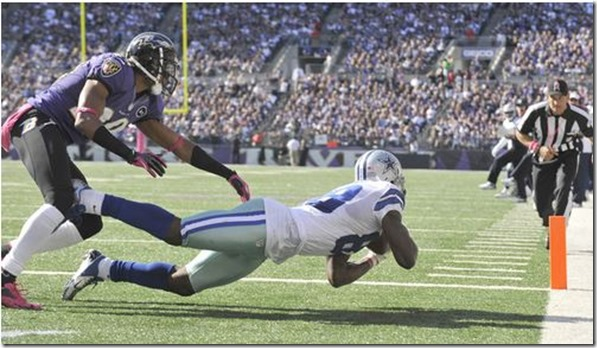 Dez Bryant catches a touchdown pass against the Baltimore Ravens - The Boys Are Back blog