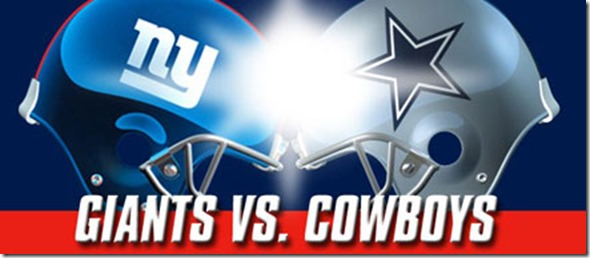 GAMEDAY - Dallas Cowboys vs. New York Giants - The Boys Are Back blog