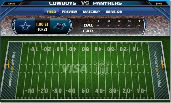 GAMETRAX - Dallas Cowboys vs. Caralina Panthers - The Boys Are Back blog