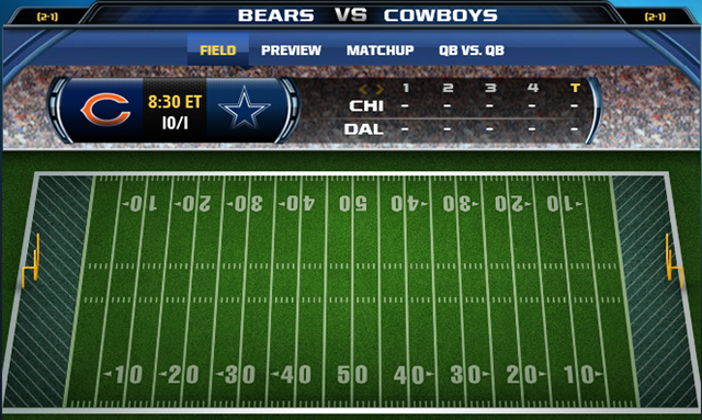 GAMETRAX - Dallas Cowboys vs. Chicago Bears - The Boys Are Back blog