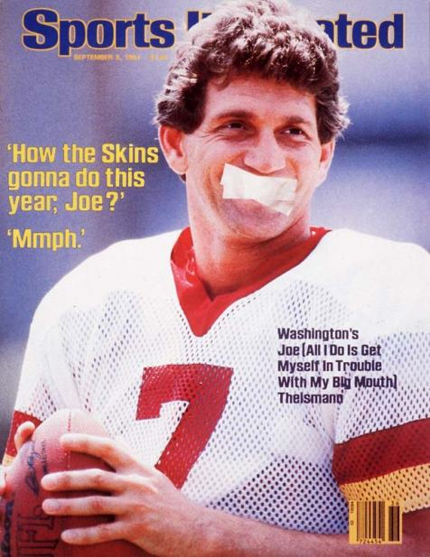 Joe Theismann has a history of running his mouth - The Boys Are Back blog
