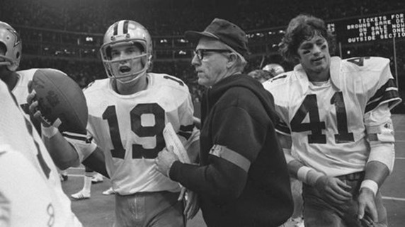 Nov. 28, 1974 - Cowboys rookie QB Clint Longley leaves Texas Stadium with game ball after bomb to wide receiver Drew Pearson in final seconds of game with Redskins - The Boys Are Back blog