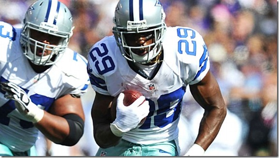 The Cowboys' DeMarco Murray rushed for 91 yards in the first half before leaving with an injury - The Boys Are Back blog