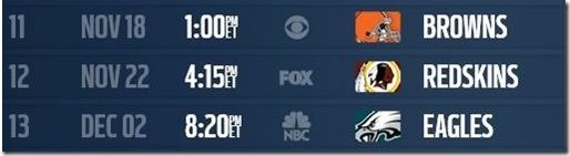 The Home Stretch - Dallas Cowboys 2012-2013 Schedule - The Boys Are Back blog