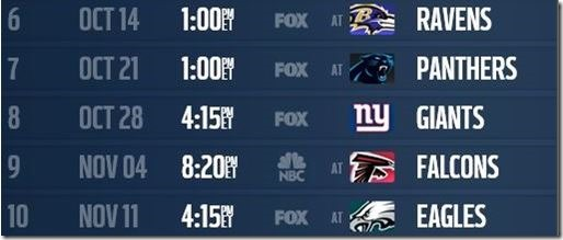 The Next Five - Dallas Cowboys 2012-2013 Schedule - The Boys Are Back blog