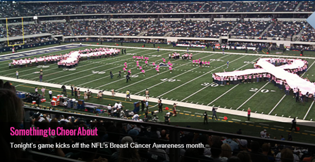 Tonight's game marks beginning of Breast Cancer Awareness Month - The Boys Are Back blog