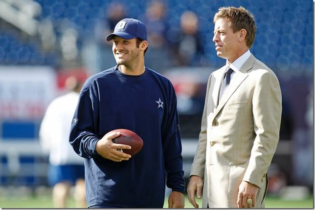 Tony Romo and Troy Aikman