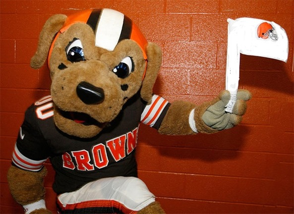 Cleveland Browns white flag - The Boys Are Back blog
