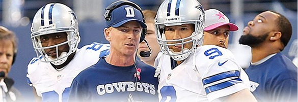 Dallas Cowboys coach Jason Garrett and QB Tony Romo vs New York Giants - The Boys Are Back blog