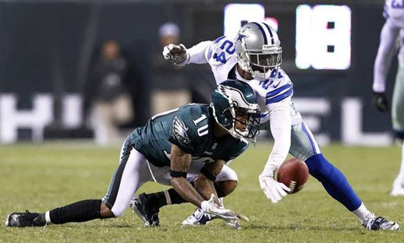 Dallas Cowboys cornerback Morris Claiborne (24) deflected a pass intended for Philadelphia Eagles wide receiver DeSean Jackson - The Boys Are Back blog
