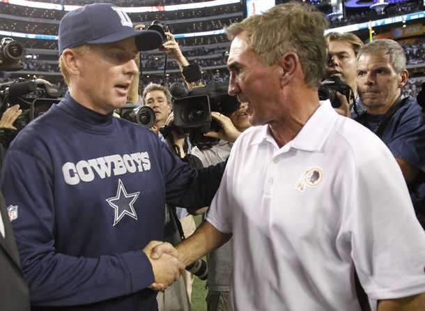Dallas Cowboys head coach Jason Garrett and Washington Redskins head coach Mike Shanahan - The Boys Are Back blog