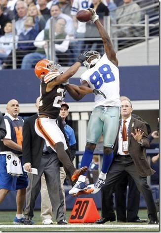 Dallas Cowboys wide receiver Dez Bryant (88) goes up for a pass - The Boys Are Back blog