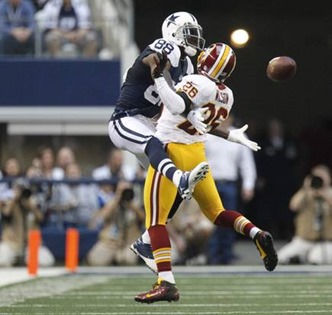 Dallas Cowboys wide receiver Dez Bryant (88) is interfered with by Washington Redskins cornerback Josh Wilson - The Boys Are Back blog