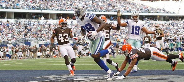 Dallas Cowboys WR Dez Bryant scores TD vs Cleveland Browns - The Boys Are Back blog