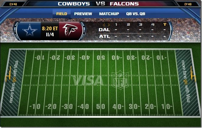 GAMETRAX - Dallas Cowboys vs. Atlanta Falcons - The Boys Are Back blog
