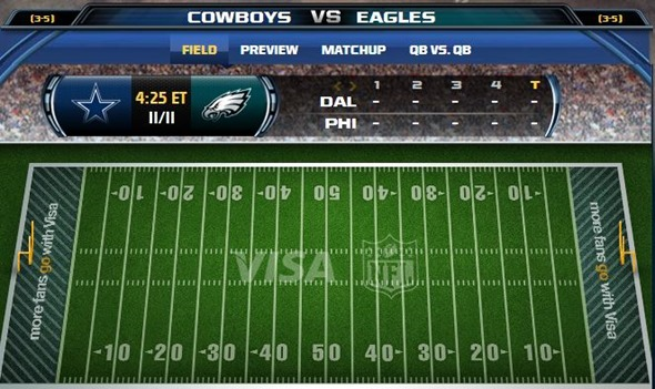 GAMETRAX - Dallas Cowboys vs. Philadelphia Eagles - The Boys Are Back blog