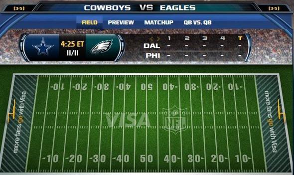 GAMETRAX - Dallas Cowboys vs. Philadelphia Eagles - The Boys Are Back blog