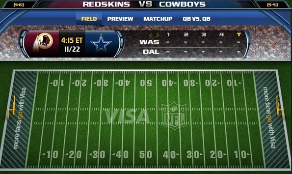 GAMETRAX - Dallas Cowboys vs. Washington Redskins - The Boys Are Back blog